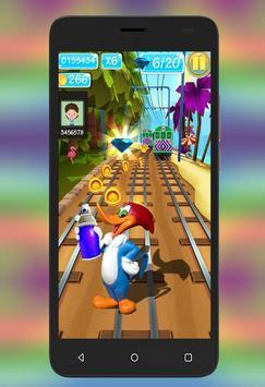 Woody subway WoodPecker Adventure screenshot 1