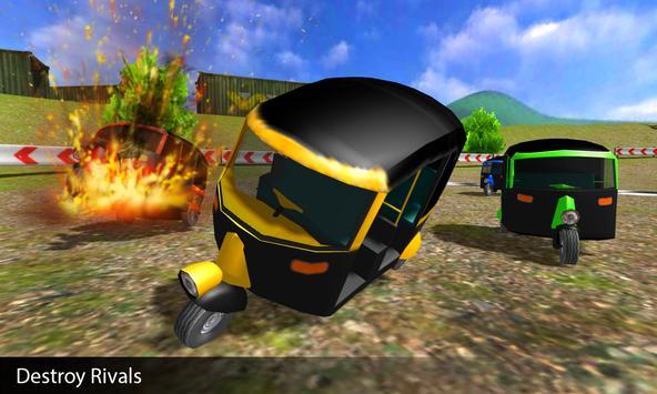 Tuk Tuk Rickshaw Demolition Race screenshot 3