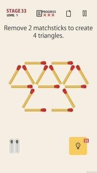MATCHSTICK - matchstick puzzle game screenshot 1
