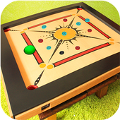 Real Carrom Pro 3D Deluxe : Free Carrom Board Game icon
