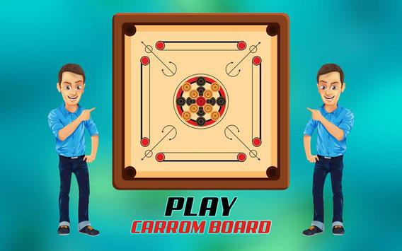 Real Carrom Pro 3D Deluxe : Free Carrom Board Game poster