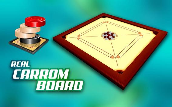 Real Carrom Pro 3D Deluxe : Free Carrom Board Game screenshot 1