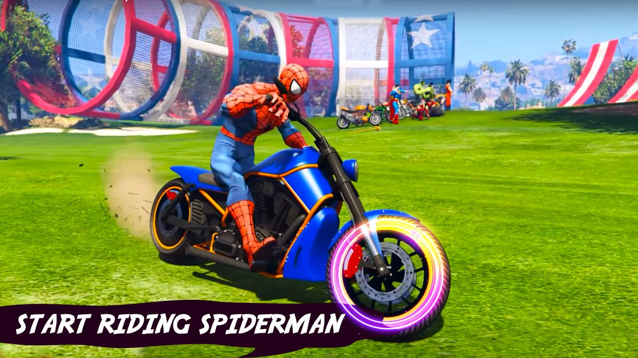Ultimate Superhero Tricky Bike Stunts Racing Games For Android Apk Download