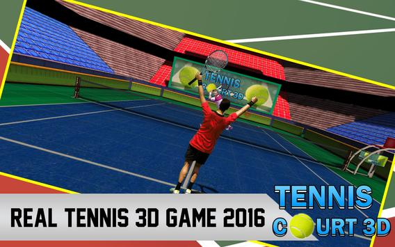 Tennis Court 3d poster