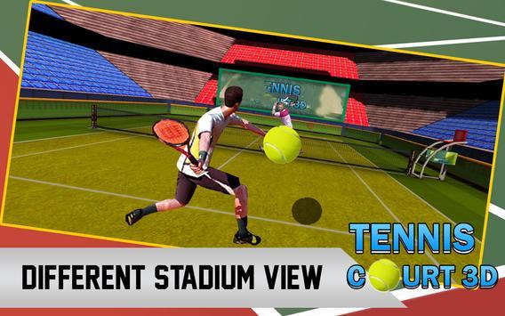 Tennis Court 3d apk screenshot