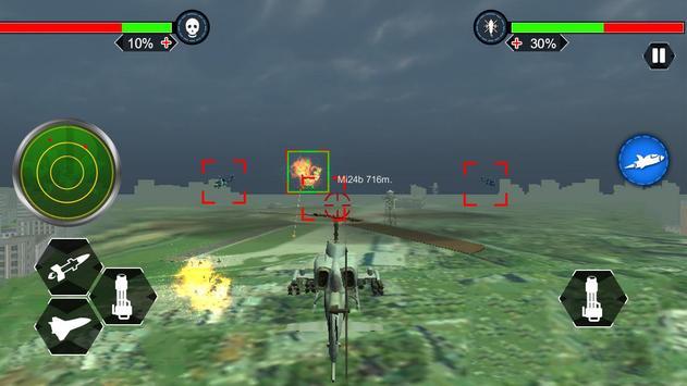 Helicopter War Shooter Gunship screenshot 12