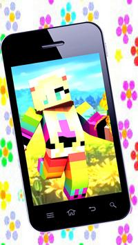 Skins for girls for minecraft poster