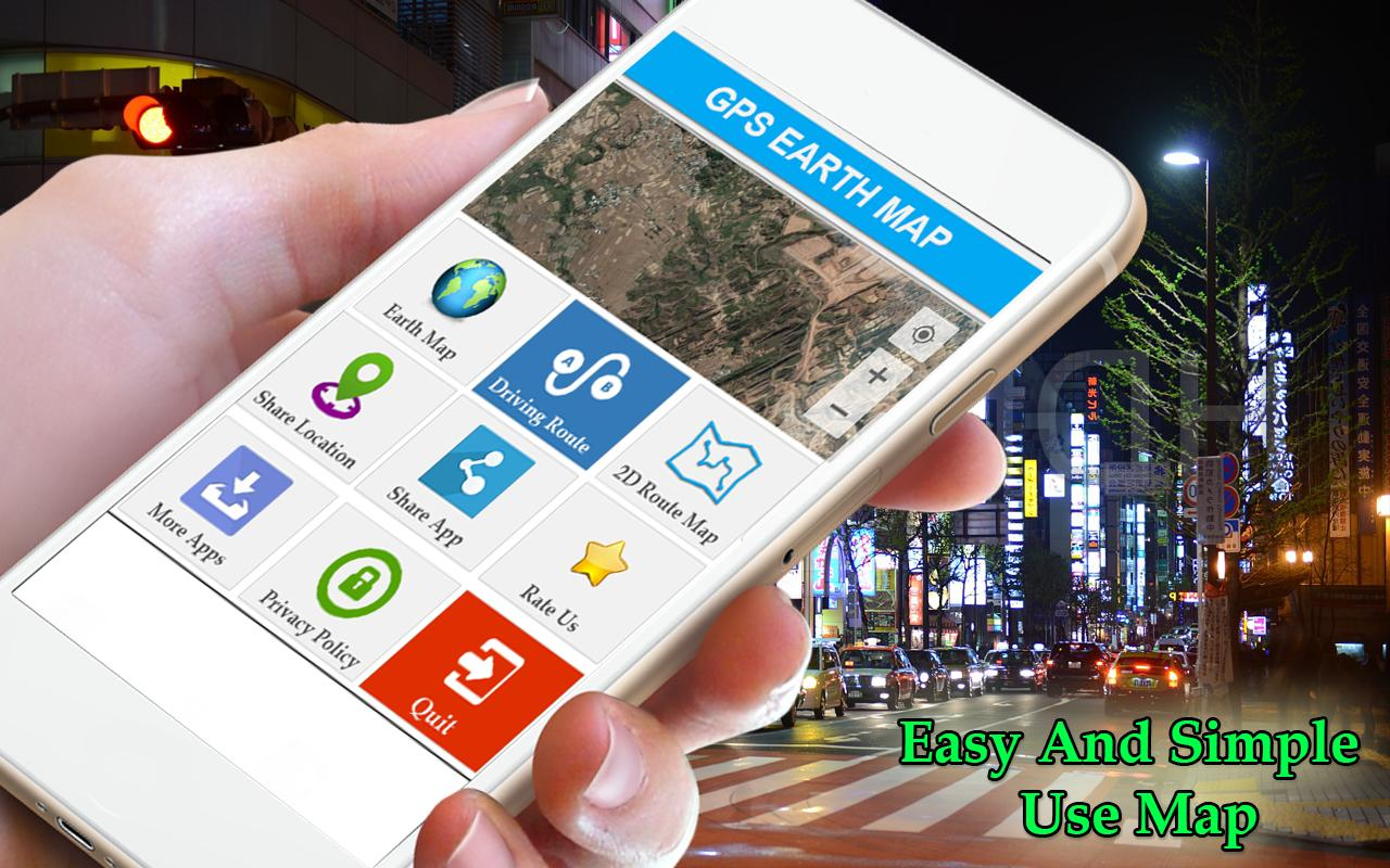 Earth Map 🌏 Live GPS Satellite Guide Route Finder for Android