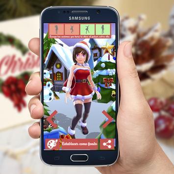 Lady Christmas 3D Wallpapers apk screenshot