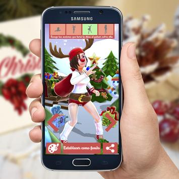 Lady Christmas 3D Wallpapers poster