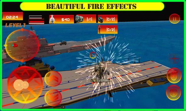 Navy Battleship Gunship Attack apk screenshot