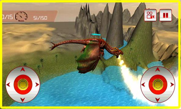 Flying Fire Dragon Simulator poster
