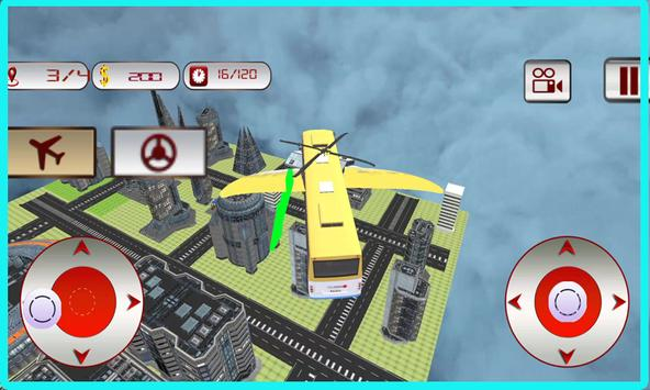 Flying School Bus Simulator apk screenshot