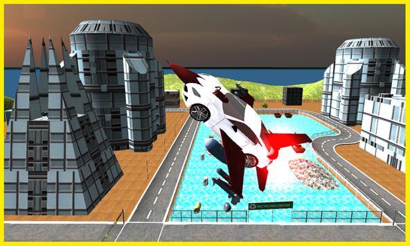 Flying Car Free Futuristic F16 apk screenshot