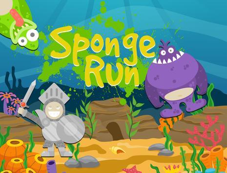 Sponge Hero Run Bob poster