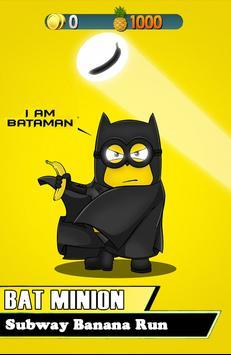 BATMINION 3D SUBWAY BANANA RUN poster