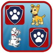 Paw Puppy Memory Matching icon