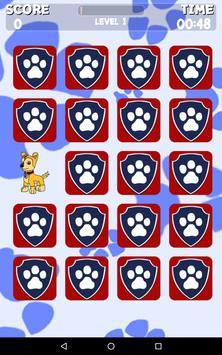 Paw Puppy Memory Matching apk screenshot
