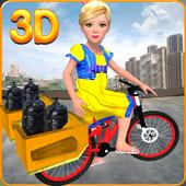Garbage Bicycle Kids Rider 3D icon