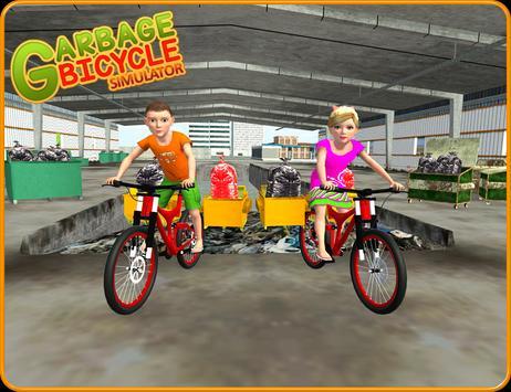 Garbage Bicycle Kids Rider 3D apk screenshot
