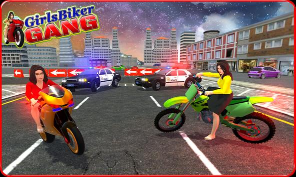 Girls Biker Gang 3D poster