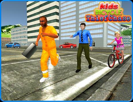 Kids Bicycle Rider Thief Chase apk screenshot