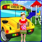 Kids School Trip Bus Game 3D icon