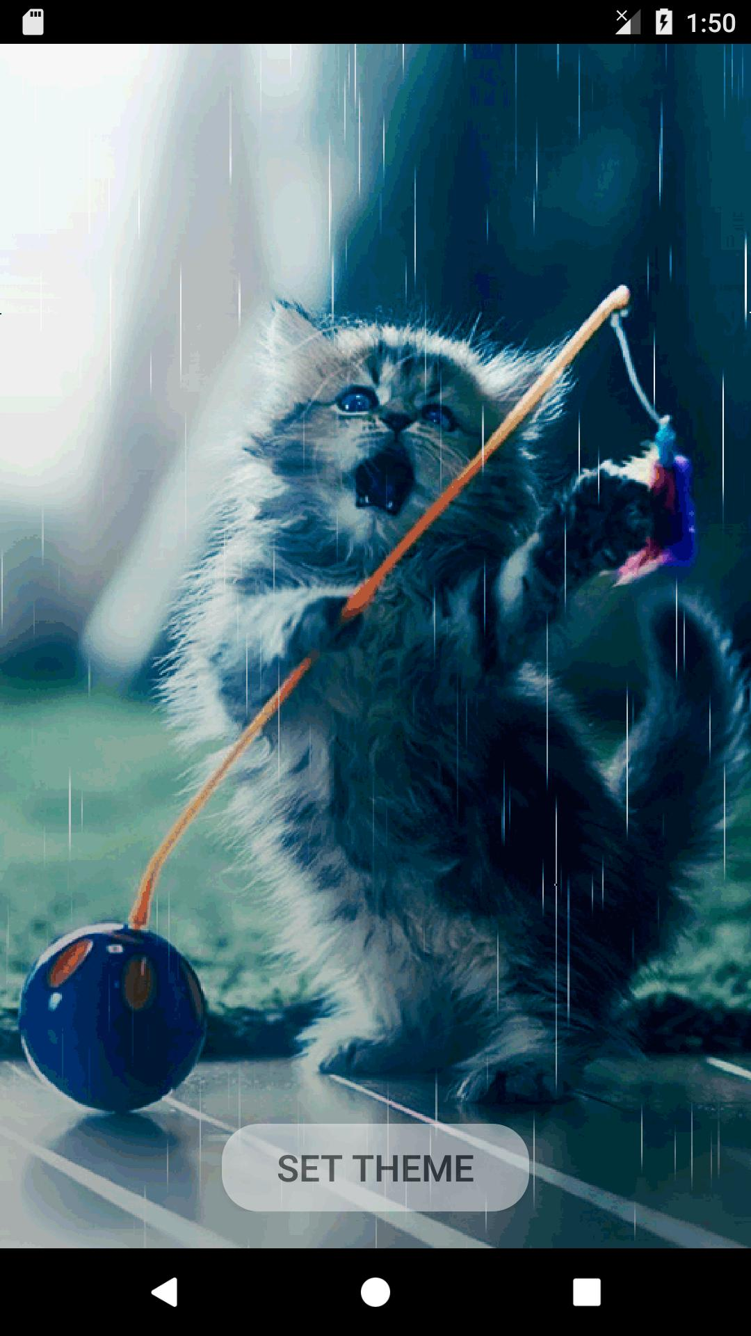 Cute Cat Animation Theme Live Wallpaper For Android APK