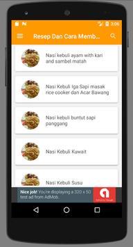 Resep Memasak Nasi Kebuli Enak screenshot 1