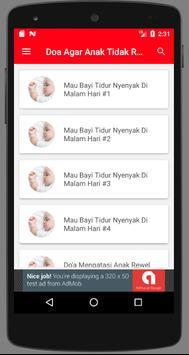 Doa agar Anak Tidak Rewel Tidur Nyenyak screenshot 1