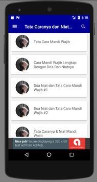 Doa Dan Tata Cara Mandi Wajib screenshot 3