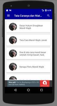 Doa Dan Tata Cara Mandi Wajib screenshot 1