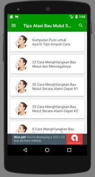 Tips Menghilangkan Bau Mulut Alami apk screenshot