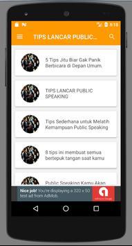 Tips Sukses Berbicara Di Depan Umum apk screenshot
