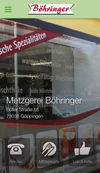 Metzgerei Böhringer poster