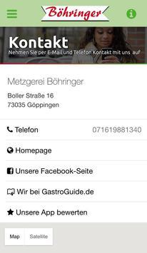 Metzgerei Böhringer apk screenshot