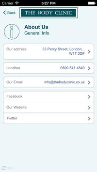 Body Clinic Of Harley Street screenshot 4