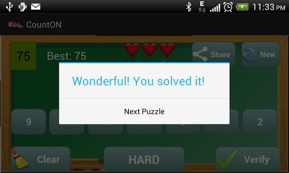CountOn - BODMAS math puzzles apk screenshot