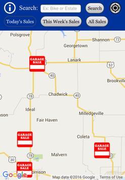 Garage Sale Map USA apk screenshot