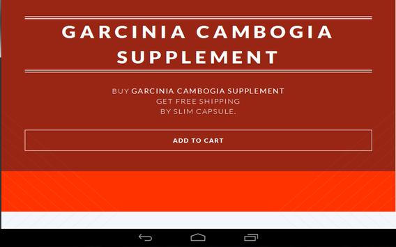 Garcinia Cambogia Supplement poster