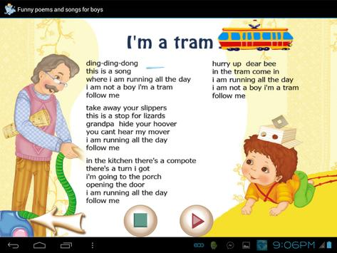 Funny Poems and Songs For Boys apk screenshot