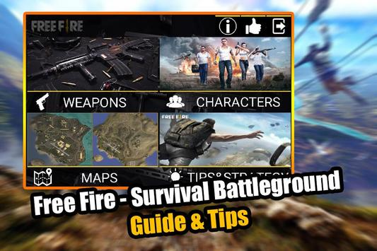 Free Fire - Survival Battleground Guide & Tips poster