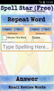 SpellStar Free apk screenshot