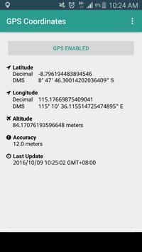 GPS Coordinates - NO INTERNET! poster