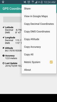 GPS Coordinates - NO INTERNET! screenshot 1
