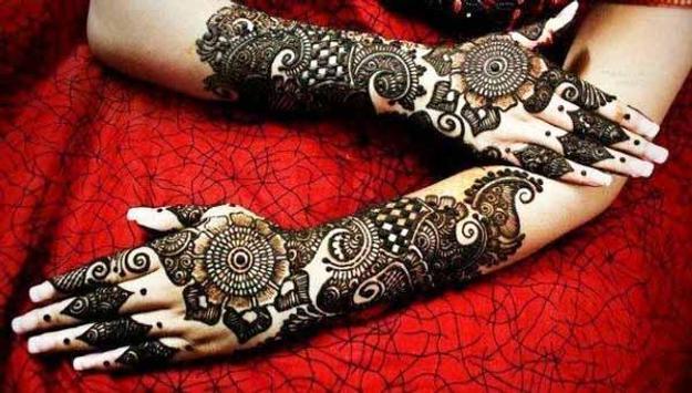 Indian Marriage Mehndi Design poster