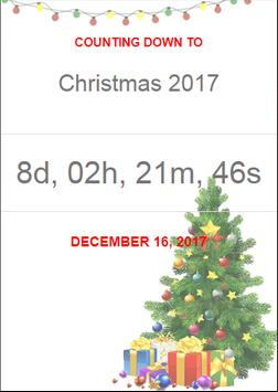 Christmas 2017 & New Year 2018 Countdown poster
