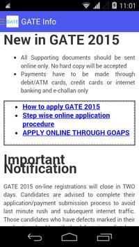 GATE Info poster