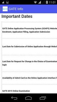 GATE Info screenshot 4