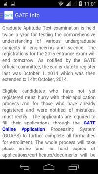 GATE Info screenshot 5